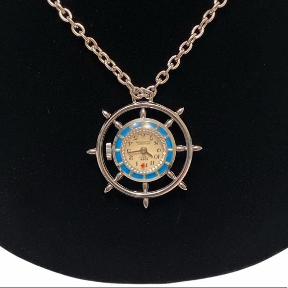 Vintage Eden 17J Rotating Necklace Pendant Watch
